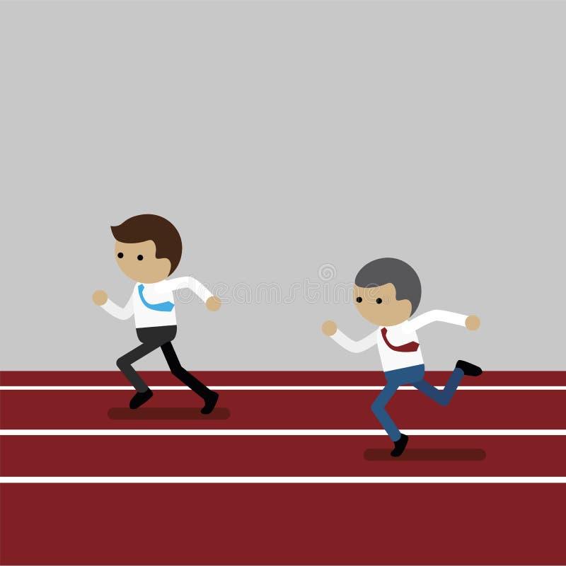 Uomo di affari competitivo illustrazione di stock
