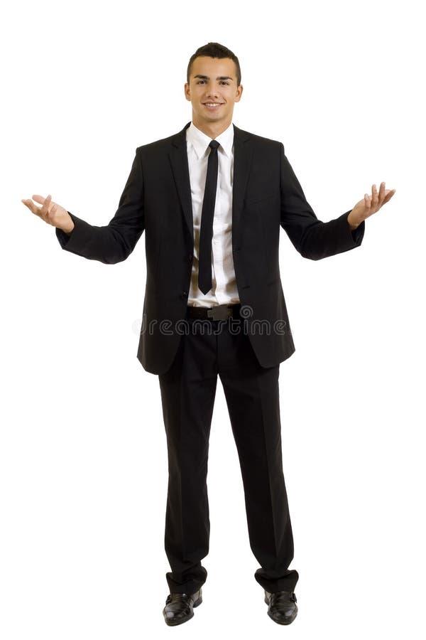 Uomo di affari con le braccia aperte fotografia stock libera da diritti