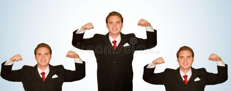 Uomo di affari con le braccia in su immagine stock libera da diritti