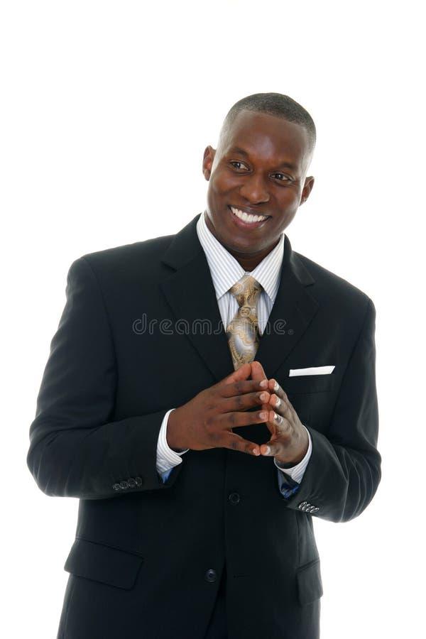 Uomo di affari in vestito nero 4 immagini stock