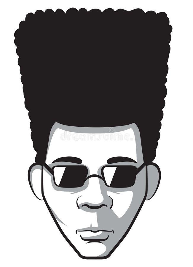 Uomo di afro illustrazione vettoriale