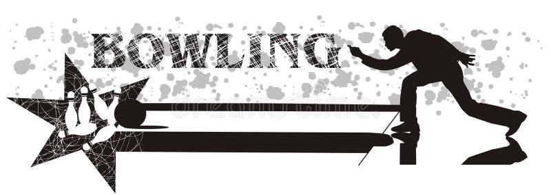 Uomo di bowling illustrazione vettoriale
