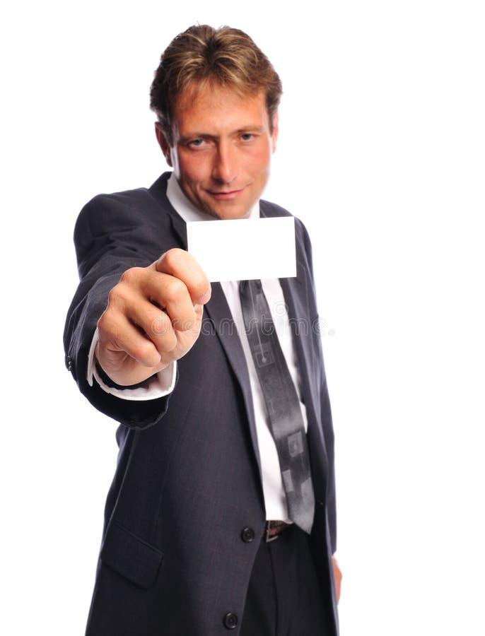 Uomo di Businesscard immagine stock