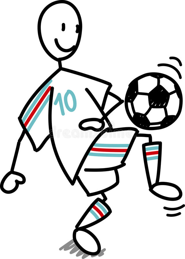 Uomo di calcio di gioco del calcio royalty illustrazione gratis