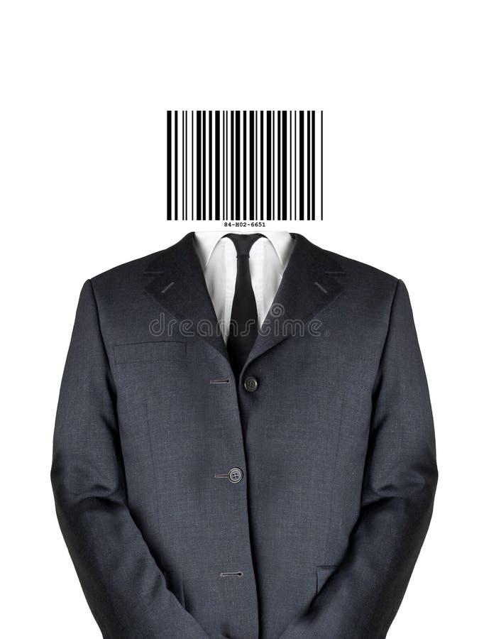 Uomo di codice a barre immagine stock