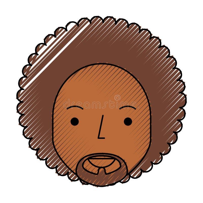 Uomo di colore con l'afro royalty illustrazione gratis