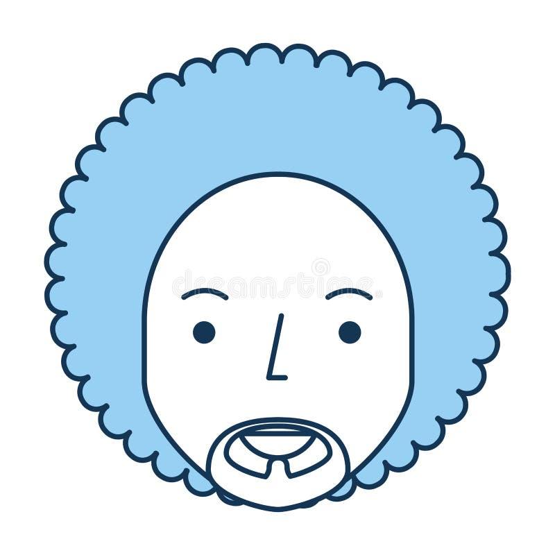 Uomo di colore con l'afro illustrazione vettoriale