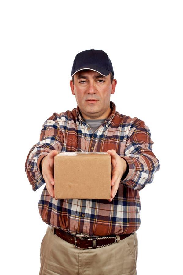 Uomo di consegna fotografia stock