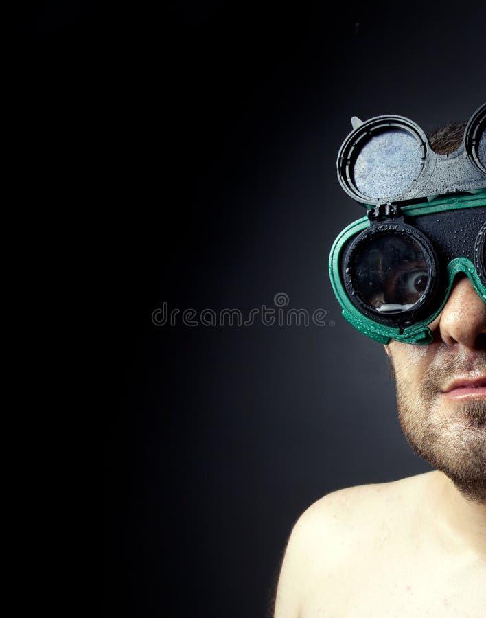 Uomo di curiosità immagine stock