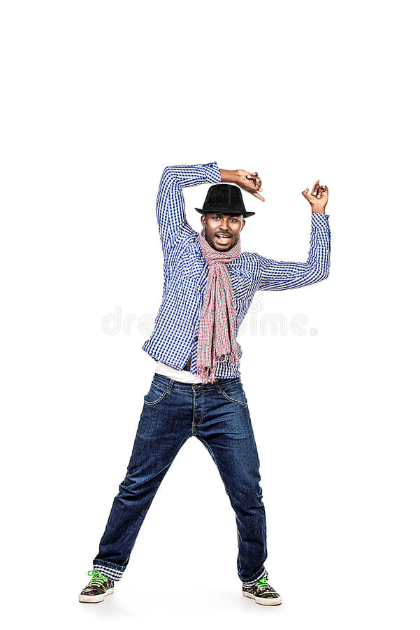 Uomo di dancing fotografia stock libera da diritti