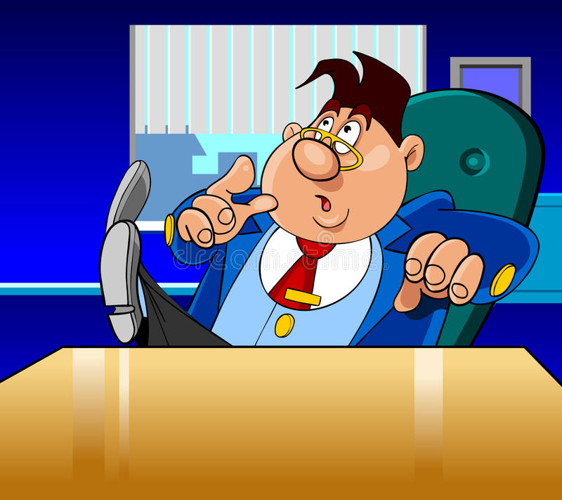 Uomo di direttore del fumetto molto sorpreso illustrazione vettoriale