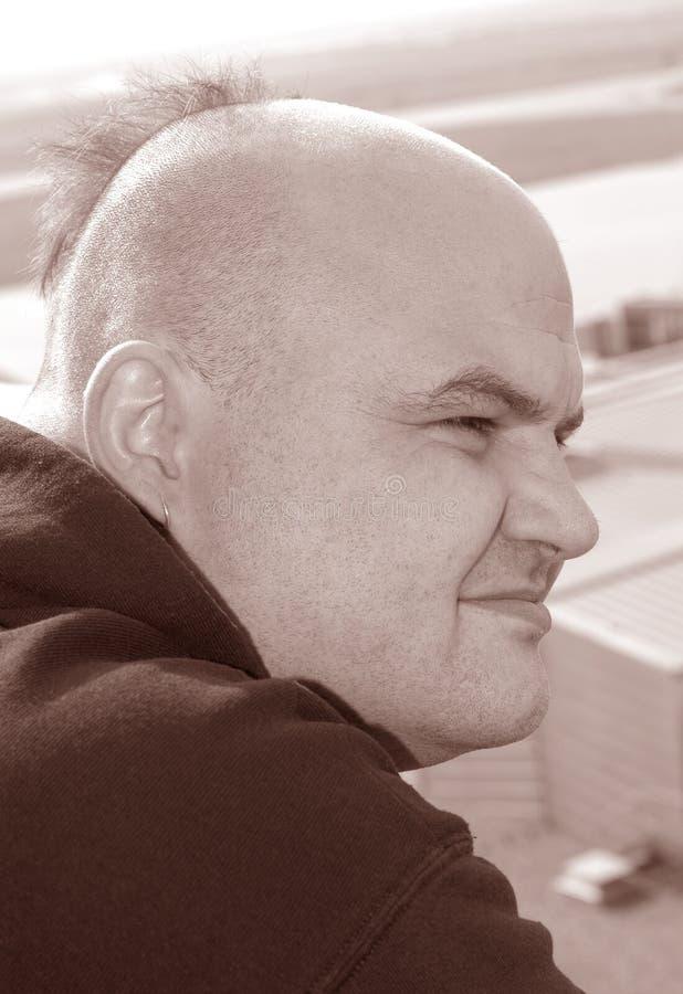 Uomo di Grin fotografia stock libera da diritti