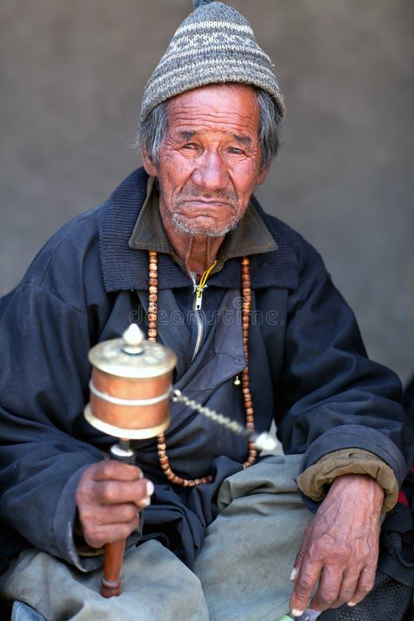 Uomo di Ladakhi, India fotografia stock libera da diritti