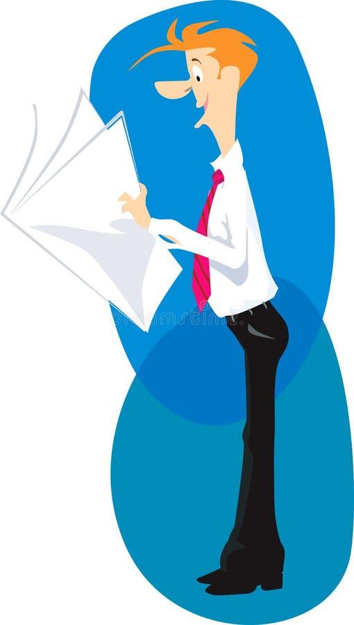 Uomo di lettura royalty illustrazione gratis