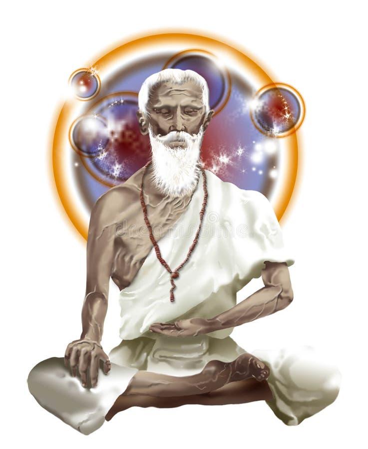 Uomo di medicina indiano antico Jivaka, il medico del Buddha immagini stock