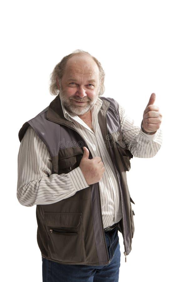 Uomo di mezza età allegro affascinante fotografia stock libera da diritti