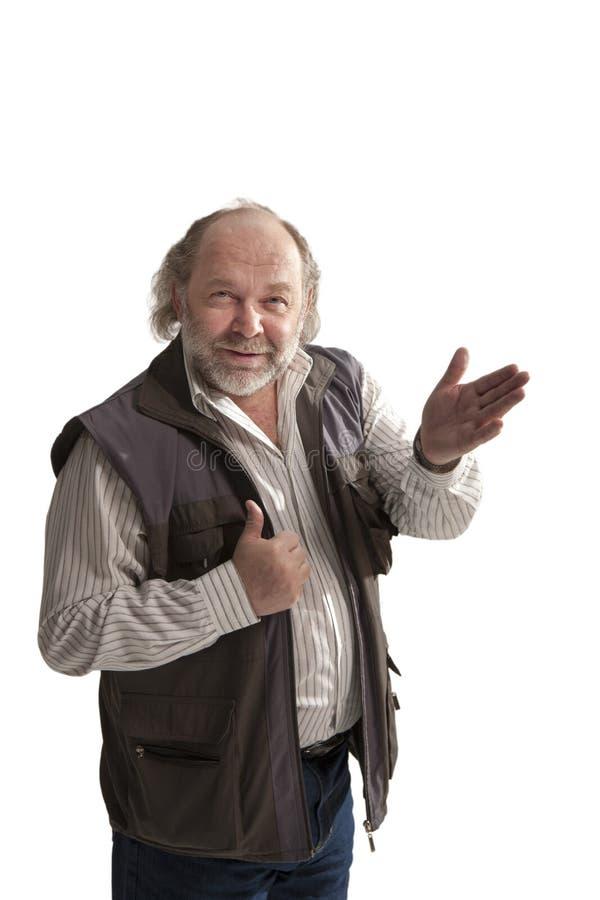 Uomo di mezza età allegro affascinante immagine stock libera da diritti