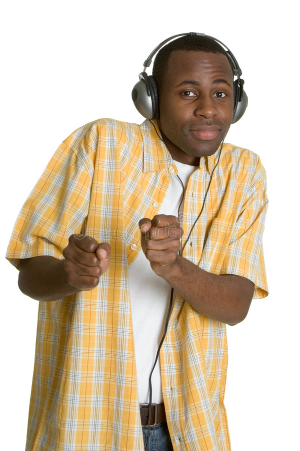 Uomo di musica dell'afroamericano fotografia stock libera da diritti
