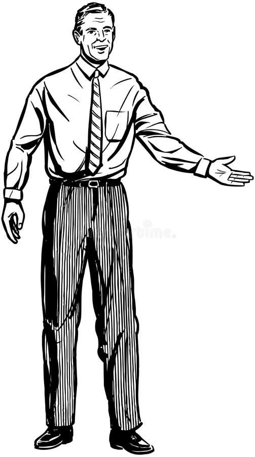 Uomo di presentazione illustrazione vettoriale