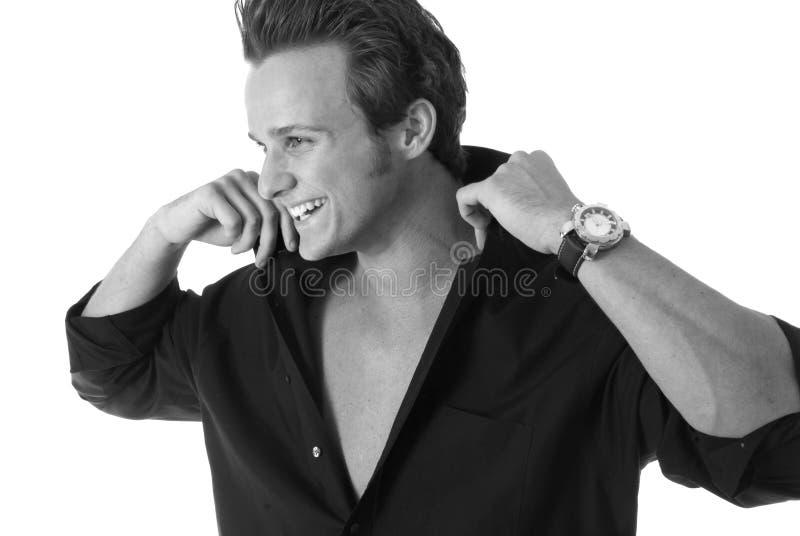 Uomo di risata. immagini stock libere da diritti