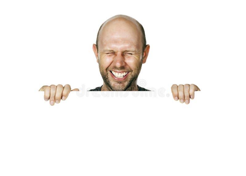 Uomo di risata molto felice immagini stock