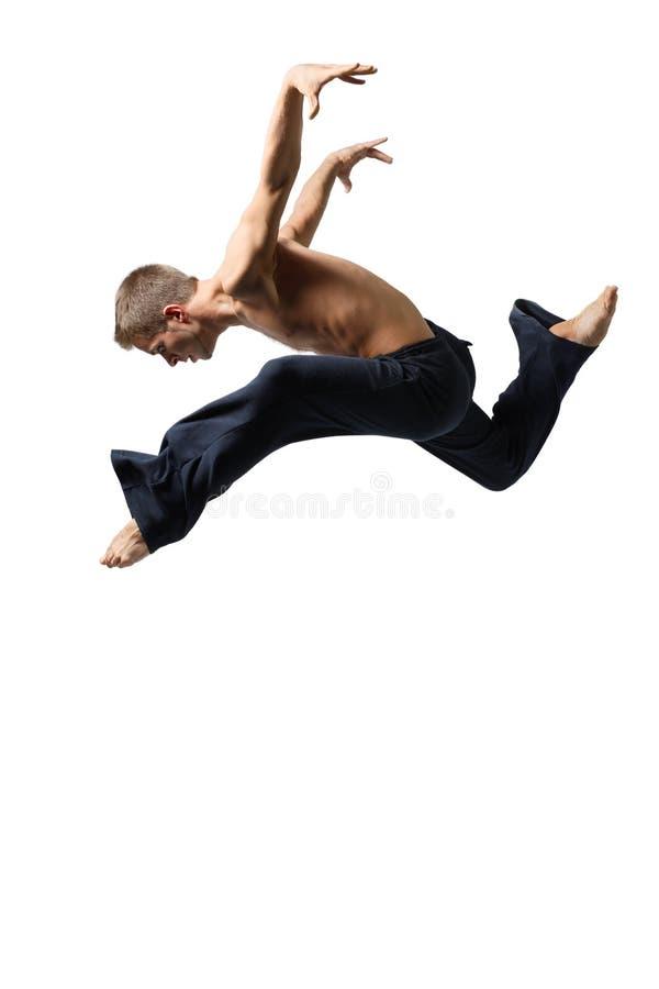 Uomo di salto immagini stock libere da diritti