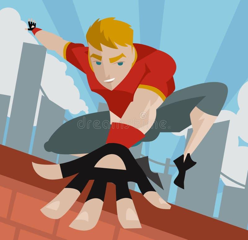 Uomo di salto di Parkour illustrazione di stock