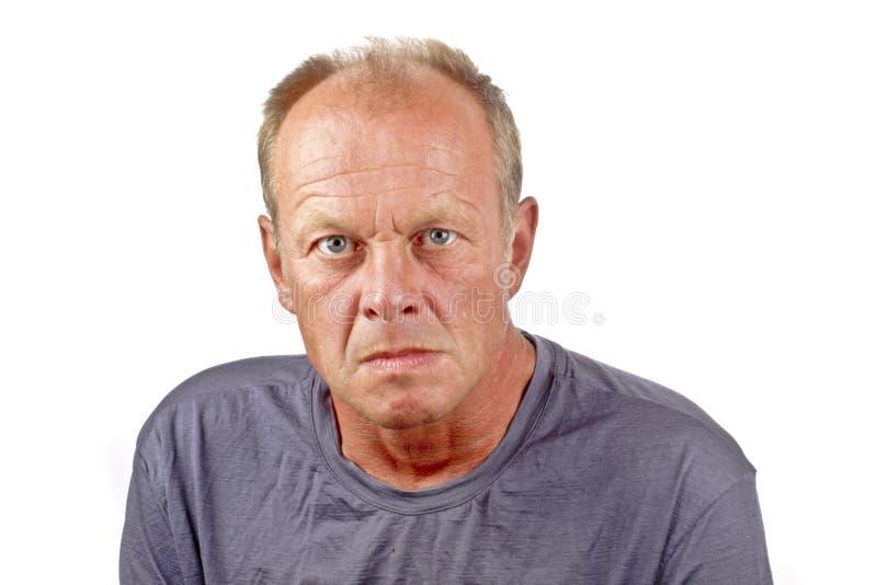 Uomo di sguardo arrabbiato fotografia stock