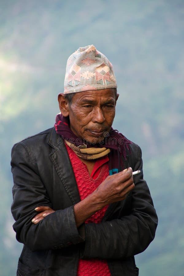 Uomo di Sindhupalchowk, Nepal immagine stock