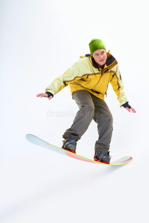 Uomo di snowboard immagine stock libera da diritti