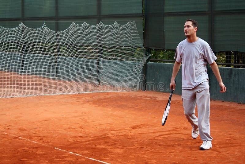 Uomo di tennis fotografie stock