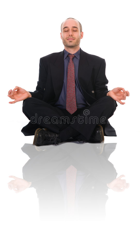 Uomo di zen immagini stock
