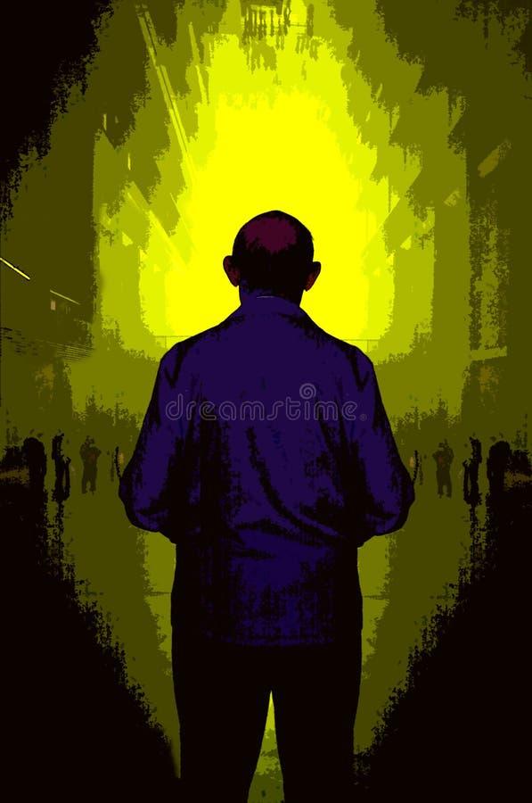 Uomo Diritto Fotografia Stock Libera da Diritti