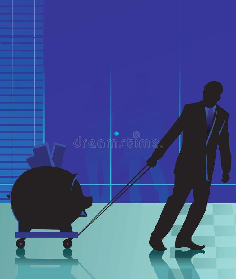 Uomo e bagagli royalty illustrazione gratis