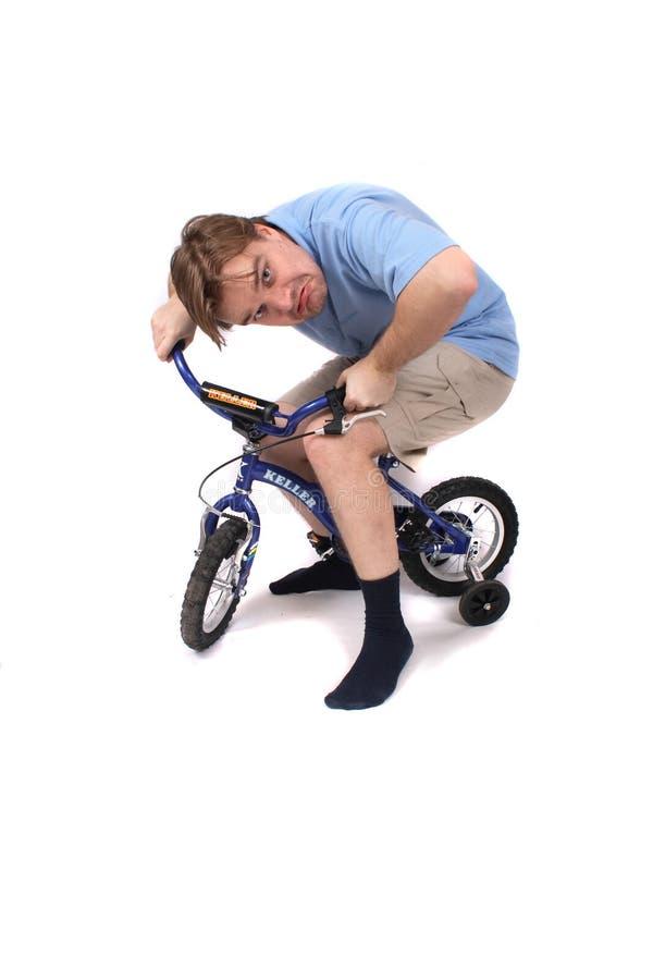 Uomo e bici immagine stock libera da diritti