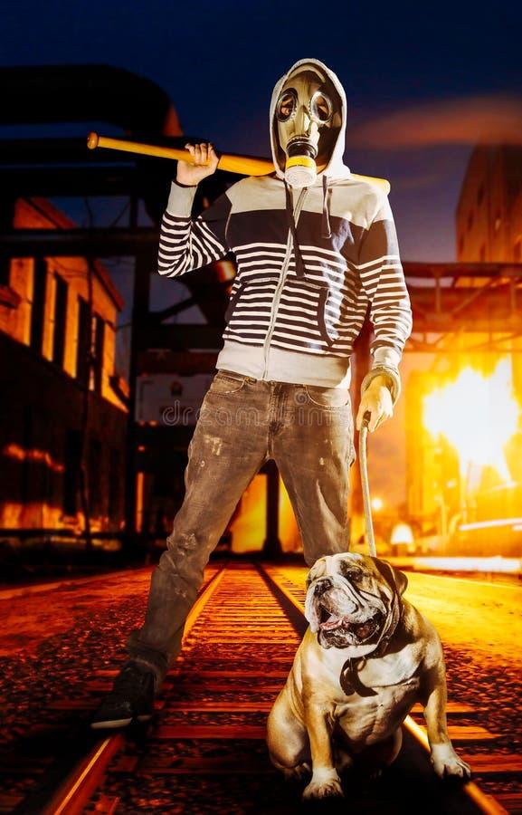 Uomo e cane fotografie stock libere da diritti