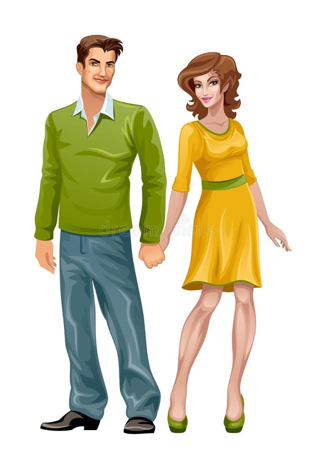 Uomo e donna royalty illustrazione gratis
