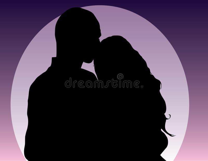 Uomo e donna illustrazione di stock