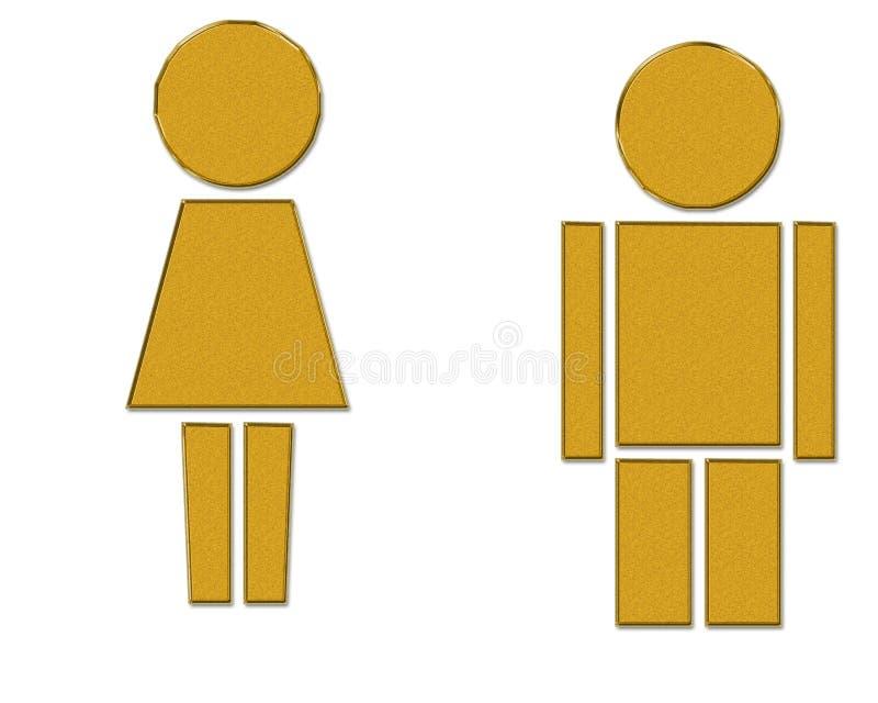 Uomo e donna illustrazione vettoriale
