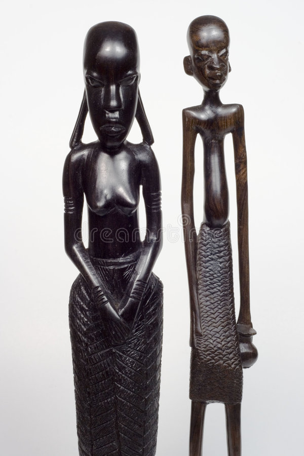Uomo e donna africani fotografia stock libera da diritti