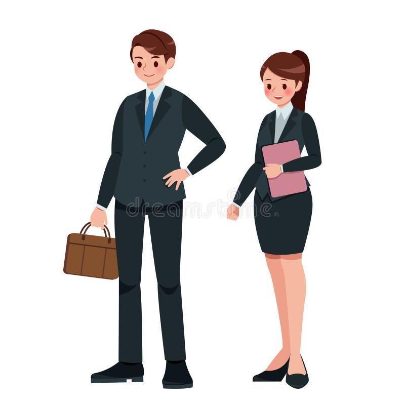 Uomo e donna di affari del fumetto royalty illustrazione gratis