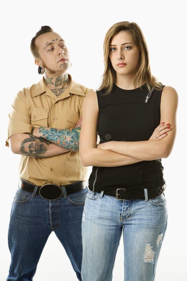Uomo e femmina teenager fotografie stock libere da diritti