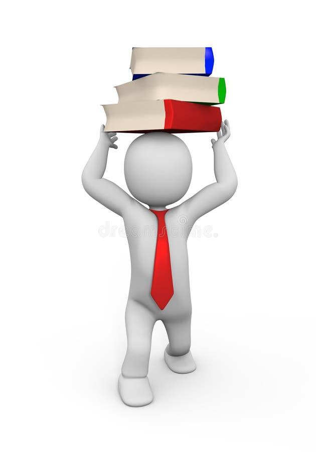 Uomo e libri immagine stock