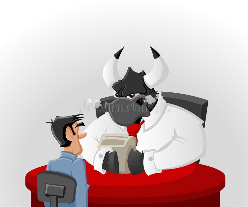 Uomo e toro del fumetto royalty illustrazione gratis