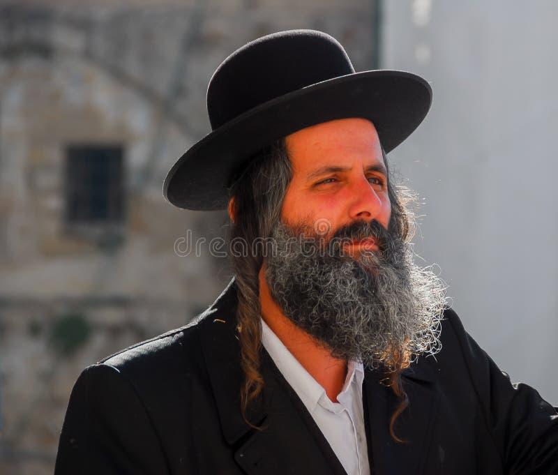 Uomo ebreo ortodosso, Israele fotografie stock libere da diritti