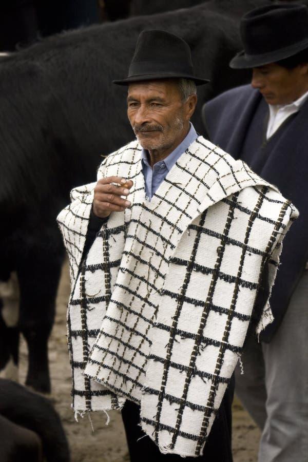 Uomo ecuadoriano - Ecuador - Sudamerica immagine stock