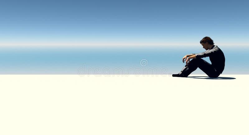 Uomo ed oceano immagini stock