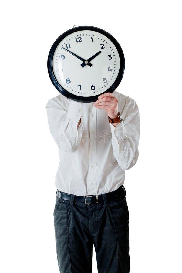 Uomo ed orologio immagine stock libera da diritti