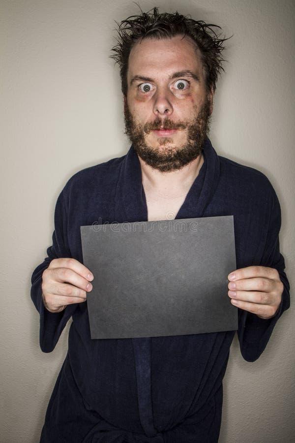 Uomo Eyed largo fotografia stock