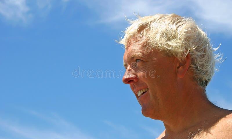 Uomo felice fotografia stock